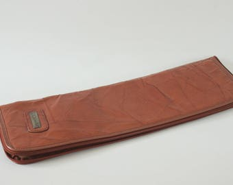 Vintage Jameslee Brown Leather Tie Case Made in Korea