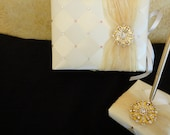 Wedding Guest Book and Pen set - Custom Order