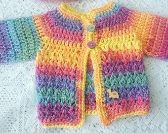 Sparkly preemie baby cardigan/sweater.
