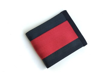 Black and Red Seatbelt Wallet