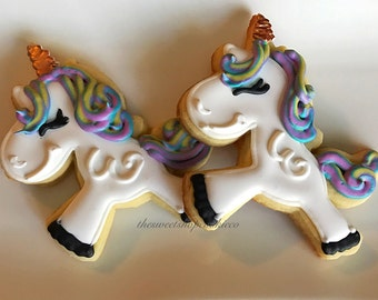 Unicorn cookies 2 dozen