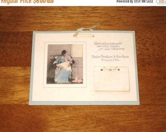 "1922 Miniature Calendar / Vintage Photo Of Mother & Child Advertising Calendar / 6 1/4"" x 4 7/8"""
