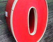 O - Reclaimed Metal letter - 16 inch - SALE