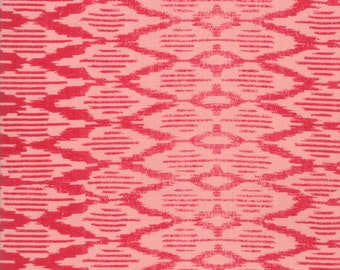 Spellbound Ikat in Scarlet Red and Soul Pink,  Urban Chiks, 100% Cotton, Moda Fabrics, 31116 12