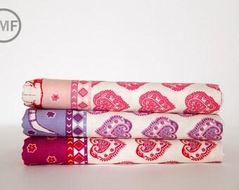 Fat Quarter Bundle Spellbound Skull Double Border, 3 Pieces, Urban Chiks, 100% Cotton, Moda Fabrics, 31110