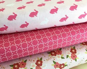 Spring/Easter Fabric Bundle of 3, Riley Blakes Wonderland Collection
