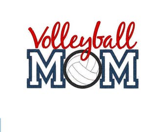 Volleyball Mom Embroidered Tee