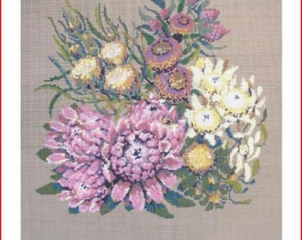 Huge Needlepoint Canvas: Dryandera Floral Canvas
