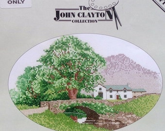 50%OFF John Clayton Collection HILL FARM Painting By Heritage Stitchcraft - Counted Cross Stitch Pattern Chart