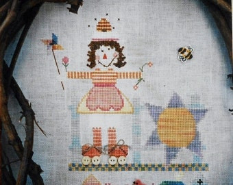 50%OFF Fanci That Primitive SCARECROW Of The Month MAY Folk Art - Counted Cross Stitch Pattern Chart