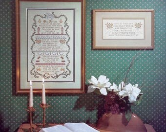Stoney Creek Collection | LORD'S PRAYER SAMPLER | Bible Biblical | Counted Cross Stitch Pattern | Chart