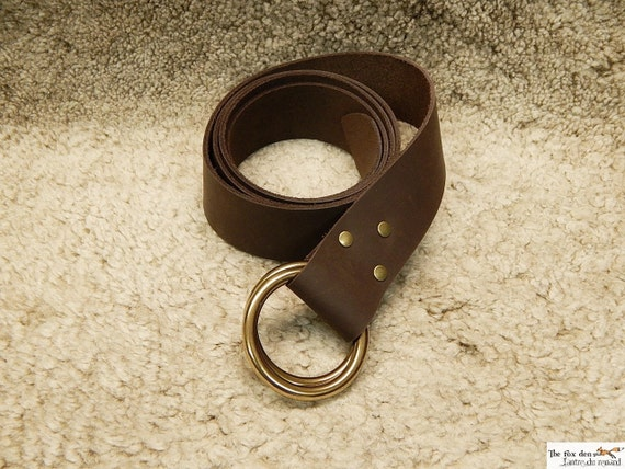 Items Similar To Medieval Leather Belt With Double Brass O