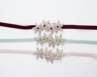 Silver beaded Starfish bridesmaids belt