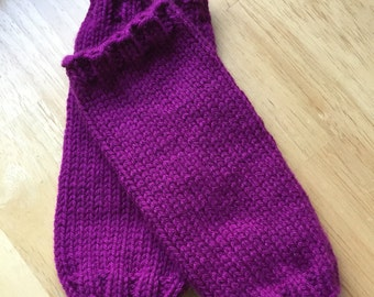 Purple legwarmers, baby legwarmers, toddler legwarmers, machine washable, handknit