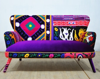 Patchwork Sofa - purple love