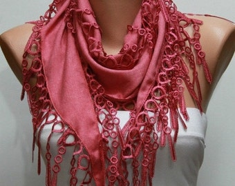 ON SALE --- Amaranth Scarf Fall Winter Accessories Pashmina Scarf Cowl Scarf Gift Ideas For Her Women Fashion Accessories Christmas Gift