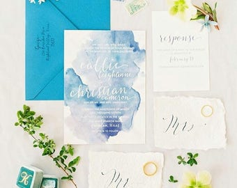 Callie & Christian Wedding Invitations