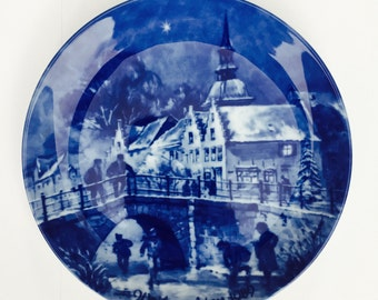 Christmas Eve 1989 Friedrichstadt The German Christmas Plate-Berlin Design by Berlin Design Wall Display Plate Plate Germany Chintz