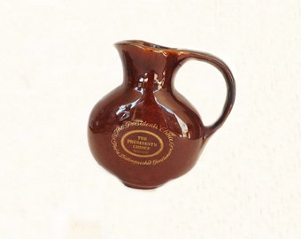 Vintage Liquor Decanter Pitcher, Brown Forman President's Choice, Whiskey Decanter, Liqiuor Pitcher, Bar Decor, Kitchen Decor