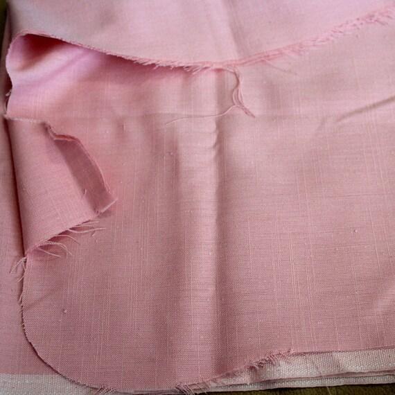 "Mauve Pink Fabric,Slub Linen Fabric,Mauve Pink Linen Fabric,Apparel Fabric,Craft Fabric,END OF BOLT Remnant 27"" x 24"" Minus Cut Out"