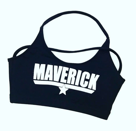 New MAVERICK TOP GUN Inspired- Sports Bra- cheer dance gymnast dancewear theme practice  wear dancewear girls child woman adult teen