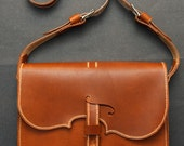 RESERVED for Daphne - Violin Leather bag, Horween dublin leather, hand made in the usa, Jacobson leather