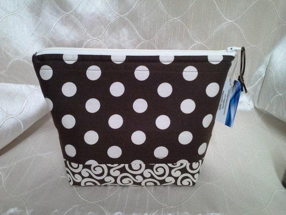 Brown Polka Dot Essential Oil Bag