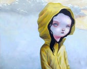 "Popsurreal original painting ""New winter"""