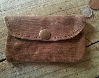 Mini light brown Snap Pouch