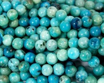 Turquoise Blue Hemimorphite 6mm -15.5 inch strand