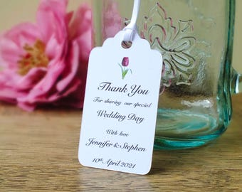 Personalised Wedding Tags - Wedding Thank You Tags - Hang Tags - Swing Tags - Favour Tags - Favour Tags - Ivory - White - Elegant - Rustic