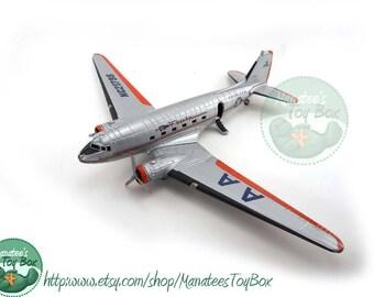 Vintage American Airlines Diecast Model Airplane Flagship Knoxville NC21798 Needs Repair