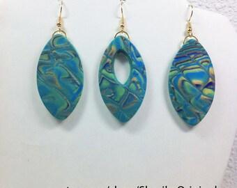 Blue Green One Hoop pair plus!