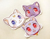 Sailor Moon Cats Stickers. Sailor Moon Sticker. Waterproof Stickers. Kawaii Stickers. Anime Stickers. Laptop Sticker. Sailor Moon Planner