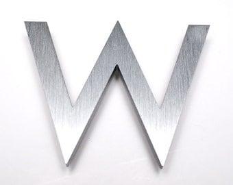 Modern House Numbers Aluminum Modern Font Letter W