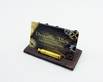 Steampunk Ammo Casing Polymer Clay Business Card Holder