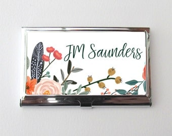 Graduation Gift, Personalized Business Card Case, Card Holder