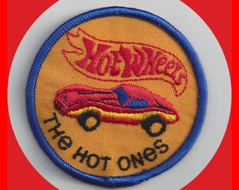 HOT WHEELS Vintage 3 inch Embroidered Patch The Hot Ones Unused, Toy Cars, Collectible Cars