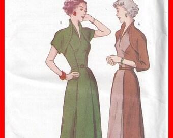 ON SALE RETRO Dress Uncut Butterick 6523  Pattern 1950s Sizes 12 14 16