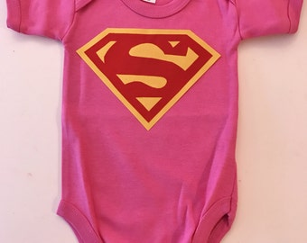Super Baby Personalized Onesie for Photo shoots Birthday Party You choose Initial