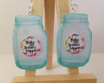 Mason Jar Earrings-Mason Jar Jewelry
