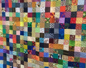Twin Patchwork Quilts - Fall Colors Twin Size Quilts - Autumn Quilts - Twin Bedding - Handmade Quilts