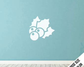 Mistletoe Wall Decal  - Christmas Decoration, Wreath - Vinyl Sticker