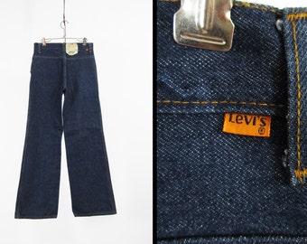 Vintage NOS Levi's Bell Bottom Jeans Orange Tab Women's 626 Dark Wash Denim - 29 x 32