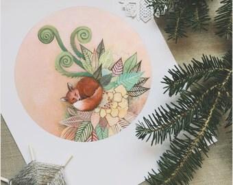 FOX PRINT | Fox Art