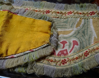 antique fabric embroidered