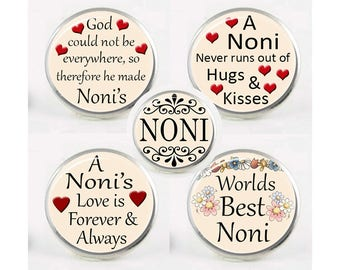 Snap Charms, Noni, Grandma, Grandmother,  Interchangeable Jewelry, 18mm Charm, Snaps, Snap Button Charm, Sayings, Mother's Day Gift #1