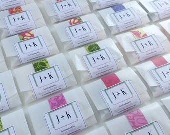 100 Custom Wedding Favors - Mini Soaps - All Natural Handmade Soaps with Essential Oils - Choose your scents