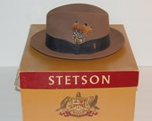 Royal Stetson Fedora Vintage Chocolate Brown Fur Felt Size 7 3/8 Excellent!