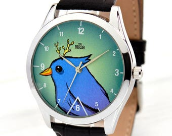 The Bird Watch | Hipster Style Watch | Watches for Men | Watches for Women | Girlfriend Birthday Gift | Gifts for Boyfriend | Free Shipping
